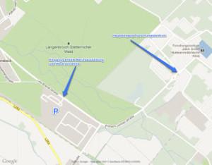Screenshot mit Anmerkungen aus Google Maps